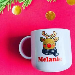 Personalised Reindeer Christmas 6oz Children's Plastic Cup