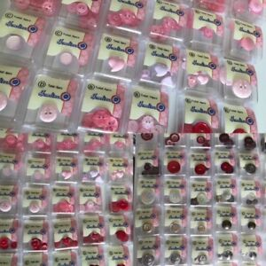 Pink Buttons, Gold Silver Bronze Diamante Haberdashery Sewing Hemline