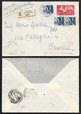 STORIA POSTALE REPUBBLICA 1951 Racc. Espresso da Cortina A. a Brescia (FXH)