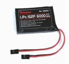 Senderakku 1S 6000mAH Graupner 33000.1 Hott LiPo JR Anschluss für MC