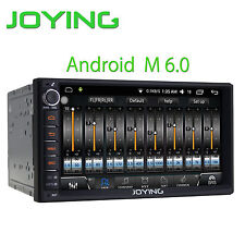 "Joying Android 6 7"" Double Din Car Head Unit With Digital Amplifier Sound System"