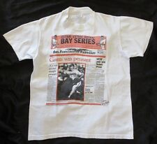 "SF GIANTS 1989 Pennant Win Stedman USA Size Medium* (39.5"") Super Hi Cru T Shirt"