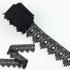 3 Yds Black Polyester Venise Lace Trim Sewing Dress Craft Applique Trimmings DIY