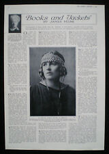 DAME REBECCA WEST NOVELIST WRITER AUTHOR 1pp PHOTO ARTICLE 1924
