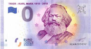 0 Euro Schein Karl Marx XEAN 2020-1 Souvenirschein Souvenir Null € Banknote