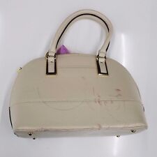 new DEFECTED Anne Klein Shimmer Down Dome Satchel Bag (sugar color)  m01