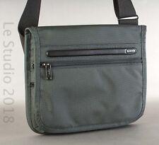 TUMI 22105DH Ballistic Nylon/Leather Flap Crossbody Messenger Tablet Bag, Gray