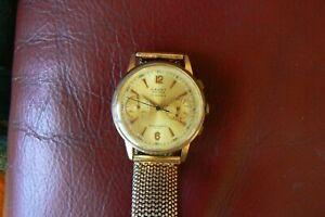 chronographe vintage Cauny prima landeron 248 37.2mm