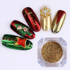 3boxes Christmas Nail Art Mirror Powder Colorful Chrome Pigment Paillettes Tips