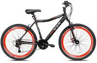 "NEW Kent KZR Mountain Bike Black Red 21 Speed Shimano Gears 26"" Men's MTB"