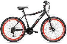 "NEW Kent KZR Mountain Bike Black Red 21 Speed Shimano Gears 26"" Men's MTB"