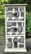 Wooden Storage Cabinet Table Top Unit 3 Chest Of Drawers Victorian Pineapple New