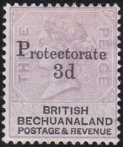 BECHUANALAND PROT. SG43 3d on 3d PALE REDDISH LILAC & BLACK MM CV £200(2017)