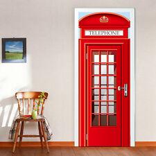 REGNO Unito misura 88cm Porta Murale CABINA TELEFONICA Home Decoration Autoadesivo Adesivi