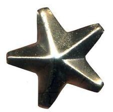 6mm Silver Star Studs - Loose (x 10 studs)