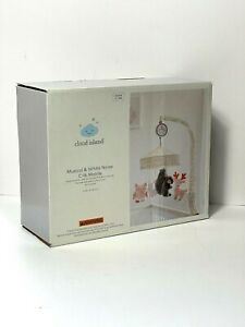 Cloud Island Musical & White Noise Crib Mobile Forest Frolic in Pink