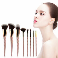 HOT 8Tlg Rose Gold Beauty Makeup Brushes Set Profession Cosmetic Tool Kit