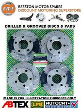 Ford Focus ST225 2.5 Front & Rear Drilled & Grooved Brake Discs & Abtex Pads