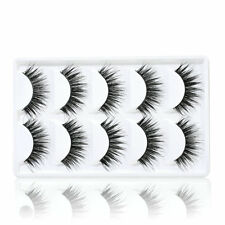 5 Pairs Natural Thick Makeup False Eyelashes Long Handmade Eye Lashes Extension