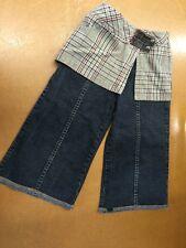 Jeanbourget Bourget Hose Jeans 7/8 Gr 104 / 5 mit Bundrock in Karo Super Cool 👍