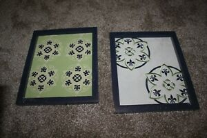 Cocalo Moss Collection 2-Piece Framed Wall Art Green Nursery Decor Baby Room NEW