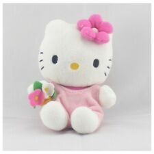 Doudou chat HELLO KITTY rose fleurs SANRIO LICENSE - Chat - Lion - Tigre Classiq