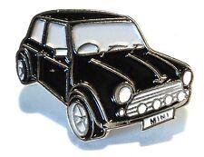 Classic Austin Morris British Leyland Mini Cooper Metal Enamel Badge 25mm Black