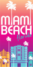 30x60 Large Miami Hotel South Florida Cruise Vacation Pool Gift Bath Beach Towel