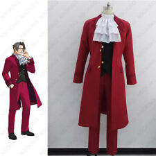 Miles Edgeworth Cosplay Clothing Phoenix Wright Ace Attorney Cosplay Costume