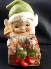 Homco Porcelain Elf Christmas Figurine Free Shipping