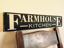 Farmhouse Kitchen Wood Sign Vintage Old Look shabby Plaque Pub Hotel Kitchen Mum