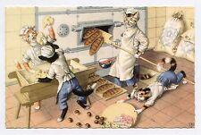 Alfred MAINZER  .Chahut à la boulangerie. Chats. Cats. Katze. 猫
