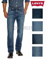 Levi's Men's 505 Regular Fit Straight Leg Denim Blue Jeans