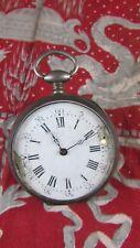 ancienne  montre a gousset a clé clef XIXe argent 10 rubis 47