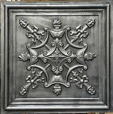 PL07 faux antique tin aged 3D metallic ceiling tiles deco wall panels10tiles/lot