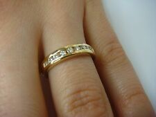 14K Yellow Gold & Genuine Channel Set Diamonds, Approx. 0.30 Ct T.W. Ladies Band