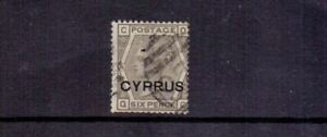 CYPRUS 1880 QV 6d GREY PLATE 16 USED CAT £650