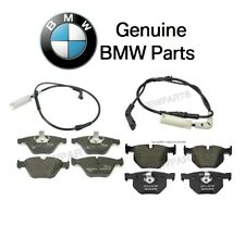 For BMW E60 525i 528i 530i Set of Front & Rear Disc Brake Pads w/Sensors Genuine