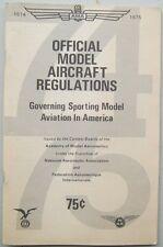 Official Model Aircraft Regulations 1974-5