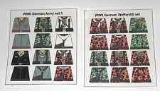 Custom 24 stickers german soldiers  2 sets - set 3 + waffen ss SIZE - lego torso