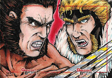Rittenhouse Marvel Greatest Battles 2013 Sketch Card Puzzle by Seth Ismart
