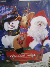 Dimensions Felt BEAN BUDDIES Holiday Kit,CHRISTMAS EXPRESS PALS,62174,Sew Glue