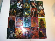 Star Wars Finest Chromium 90 Card set and SWF3 Promo by Topps 1996