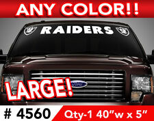 """OAKLAND RAIDERS WINDSHIELD DECAL STICKER 40""""x 5"""" ANY 1 COLOR"""