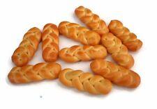 10 Loose Swiss Zopf  Bread Dollhouse Miniatures Food Bakery Loaf