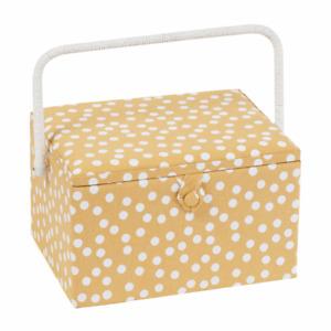 Large Sewing Box / Basket - Ochre Spot - Hobbygift ~ MRL589