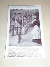 EARLY WW1 ART POSTCARD - LONG WAY FROM TIPPERARY - THE DEBARKATION - CALAIS