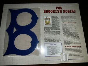 Cooperstown Baseball Replica PATCH Collection:  1916 BROOKLYN ROBINS