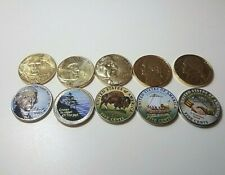 10 Coin Nickel Set 5 Colorized 5 Gold Plated 2004-2006