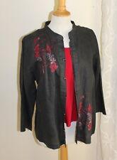 Citron Santa Monica -PL P L Foo-Dog Asian Silk Shirt Shirt Jacket +Tank Top
